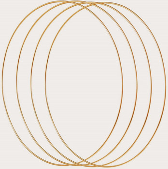 4 Pack 12 Inch Large Metal Floral Hoop Wreath Macrame Gold Hoop Rings for Making Wedding Wreath Decor and DIY Dream Catcher Wall