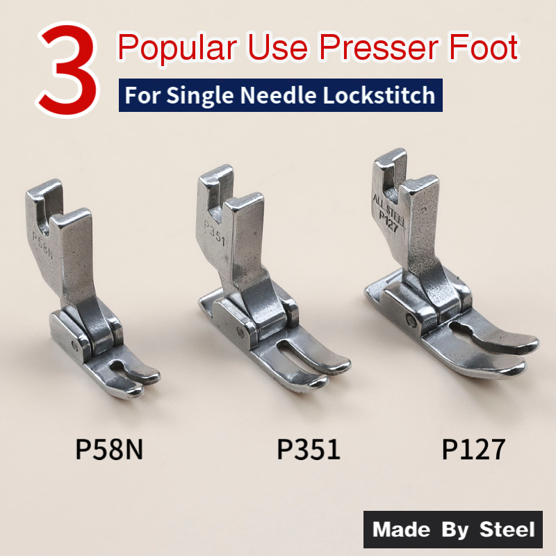 P58N P351 P127 Standard Foot For Industrial 1-needle Lockstitch Sewing Machine JUKI BROTHER CONSEW SINGER Sewing Accessories