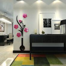 Новые акриловые 3d наклейки на стену с изображением дерева бабочки