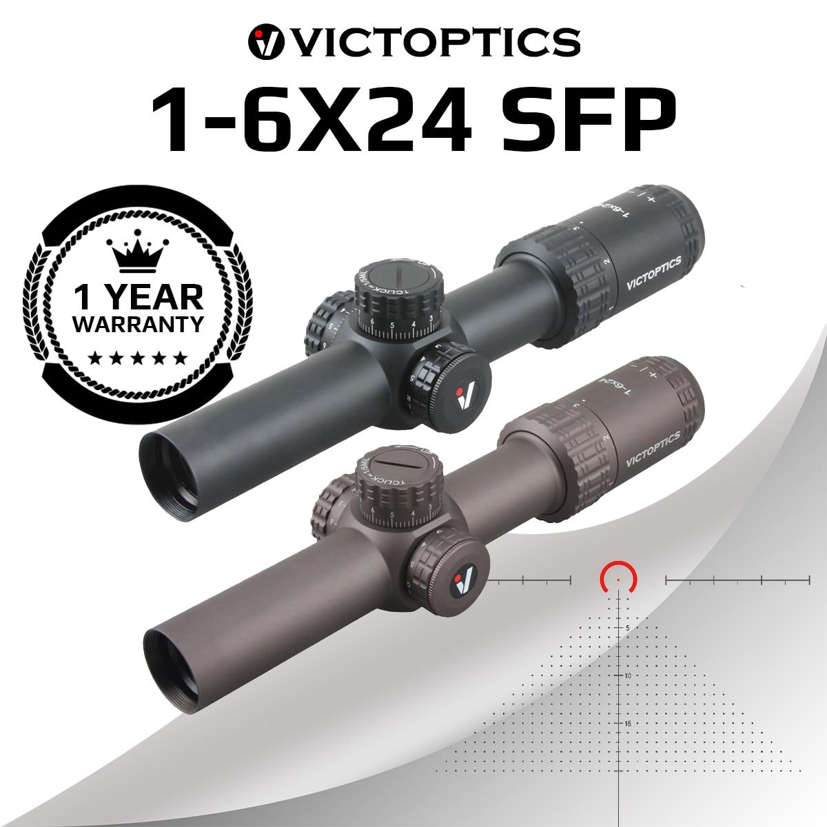 Victoptica – lunette de visée S6 1-6×24 SFP, avec soulagement des yeux et éclairage, réglage 1/5 MIL, compacte, pour AR 15 .223 5.56