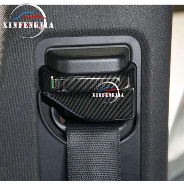 Para mercedes-benz A B CLA GLA clase W246 W176 C117 X156 13-19 fibra de carbono Color asiento seguridad cinturón Pilar cubierta