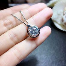 MeiBaPJ collier pour femmes, pierres précieuses, 2 Carats, classique, pendentif à cinq points, étoile, en argent massif 925, bijoux fins