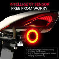 Bicycle Intelligent Sensor Brake Lights Cycling Bike Taillight USB Charging MTB Road Waterproof Rear Bike Light Flashlight