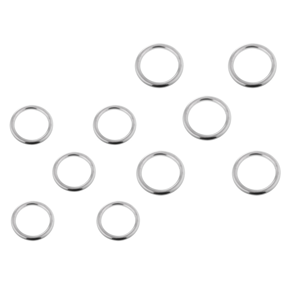 10 Pieces Smooth Welded Boat Marine Stainless Steel O Ring 4x25mm/3x20mm