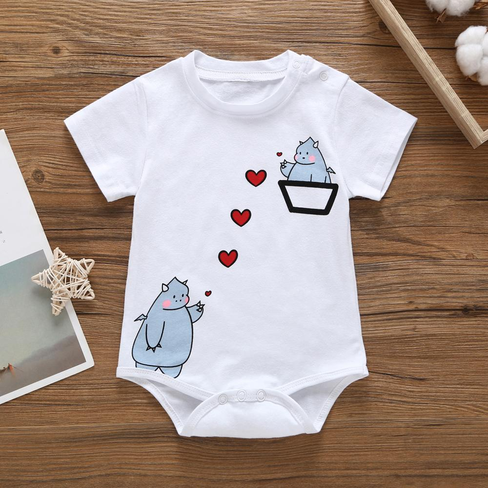PatPat 2020 New In Stock On Sale Summer Baby Cartoon Dinosaur One Pieces Bodysuit