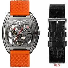 Ciga design relógio z série titanium men relógio mecânico automático relógios de pulso safira topo da marca luxo zegarek meski