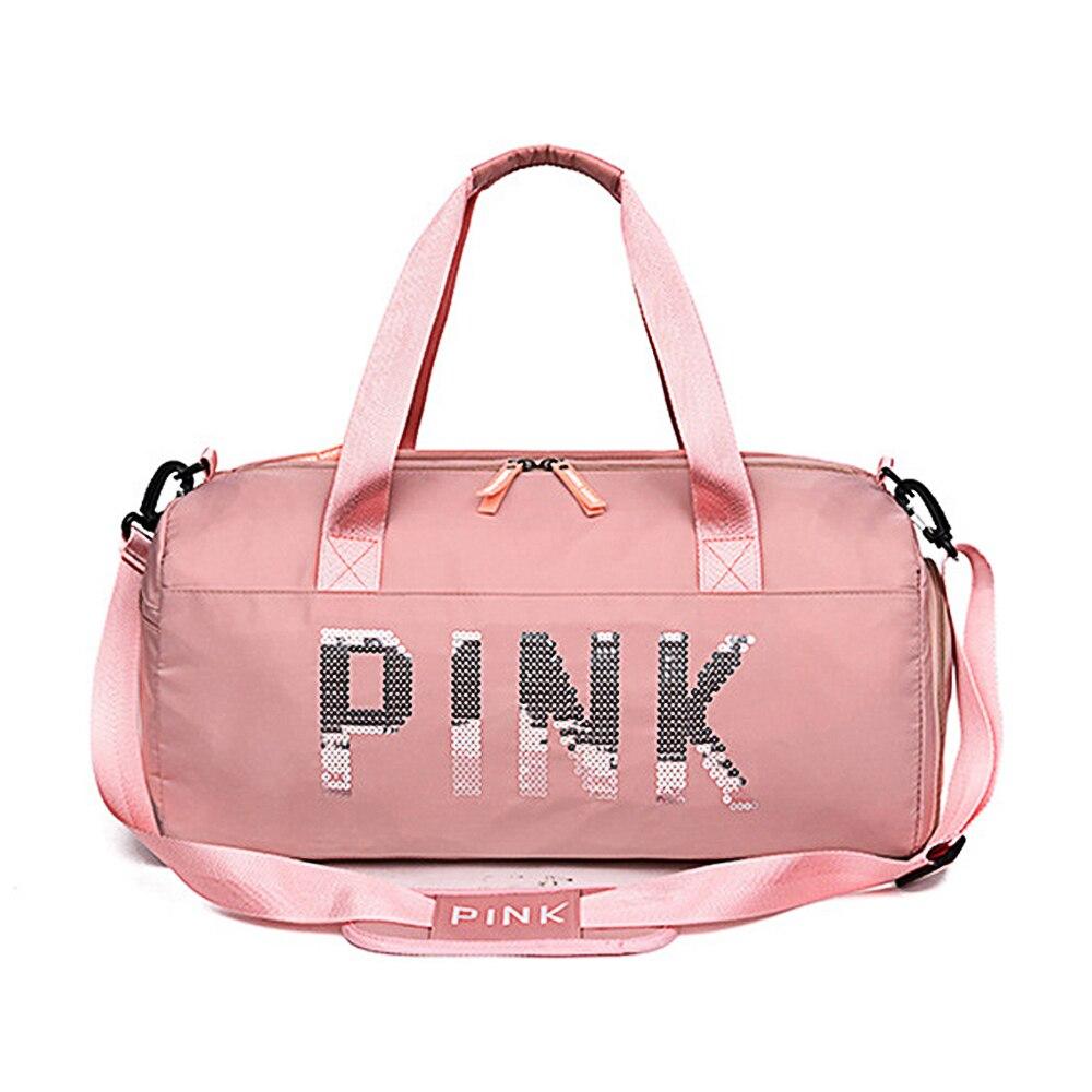 Waterproof Women Gym Bag Women Fitness Yoga Sports Bag For Shoe Storage Travel Sac De Shoulder Sports Bag Duffle Luggage