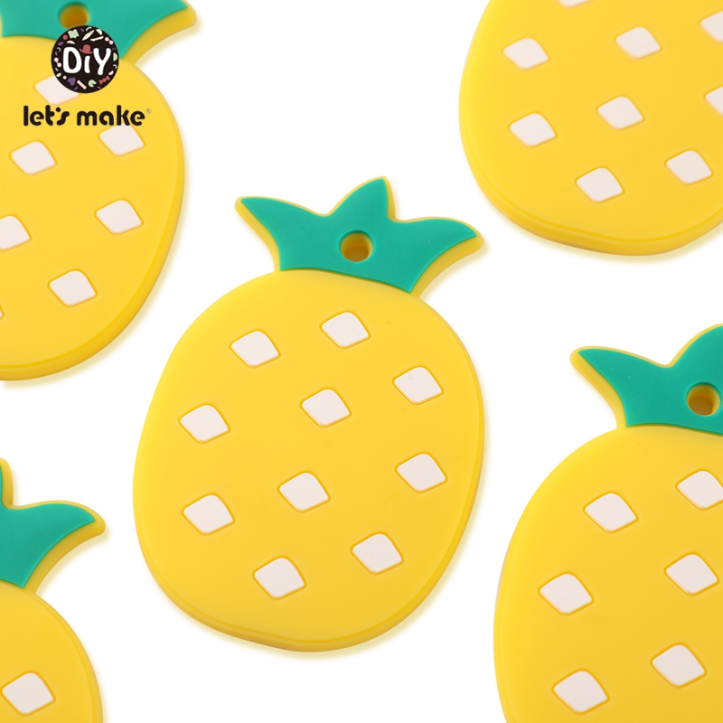 10pcs Silicone Pineapple Teethers Cartoon Penguin Animals Teething Food Grade Silicone BPA Free Teethers For Teeth Baby Teethers