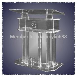 Pulpit FurnitureFree Shipping HOT SELL Beautiful Elegant Acrylic Podium Pulpit Lecternacrylic Pulpit Plexiglass
