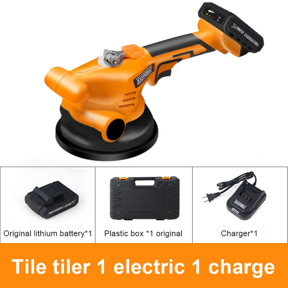 Tile Vibrator Leveling Machine Bricklayer 16.8V Ceramic Tile Suction Cup 13000mAh Lithium Wireless Tile Floor Laying Tool