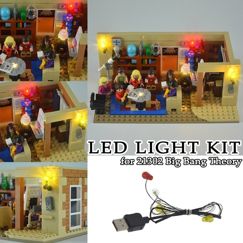 LED Light Kit for Theory Series Decoration 21302 Building Blocks Toys Bricks Decorative Lights with USB Interface image