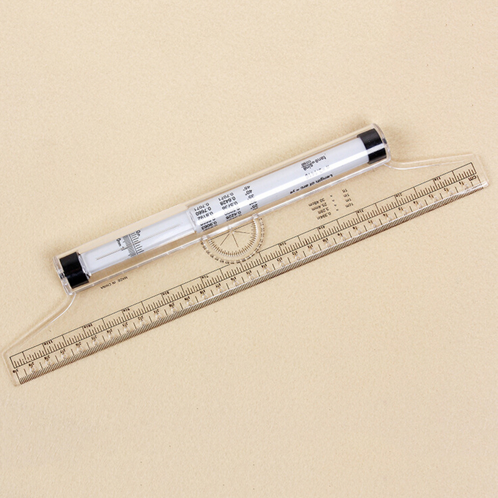 30cm Universal Parallel Rulers Angle Ruler Balancing Scale Drawing Multi-purpose Rolling Ruler