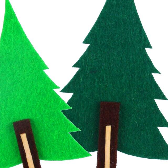 WEIGAO Woodland impreza w stylu Safari zielone drzewo ozdoba na wierzch tortu czuł ciasto wystrój dekoracja urodzinowa dzieci Baby Shower zaopatrzenie firm