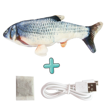 Moving Fish Cat Toy Electronic Flopping Cat Kicker Fish Toy Catnip Fish Toys for Cats Pet Supplies Funny Chew Toy for Indoor Cat 7