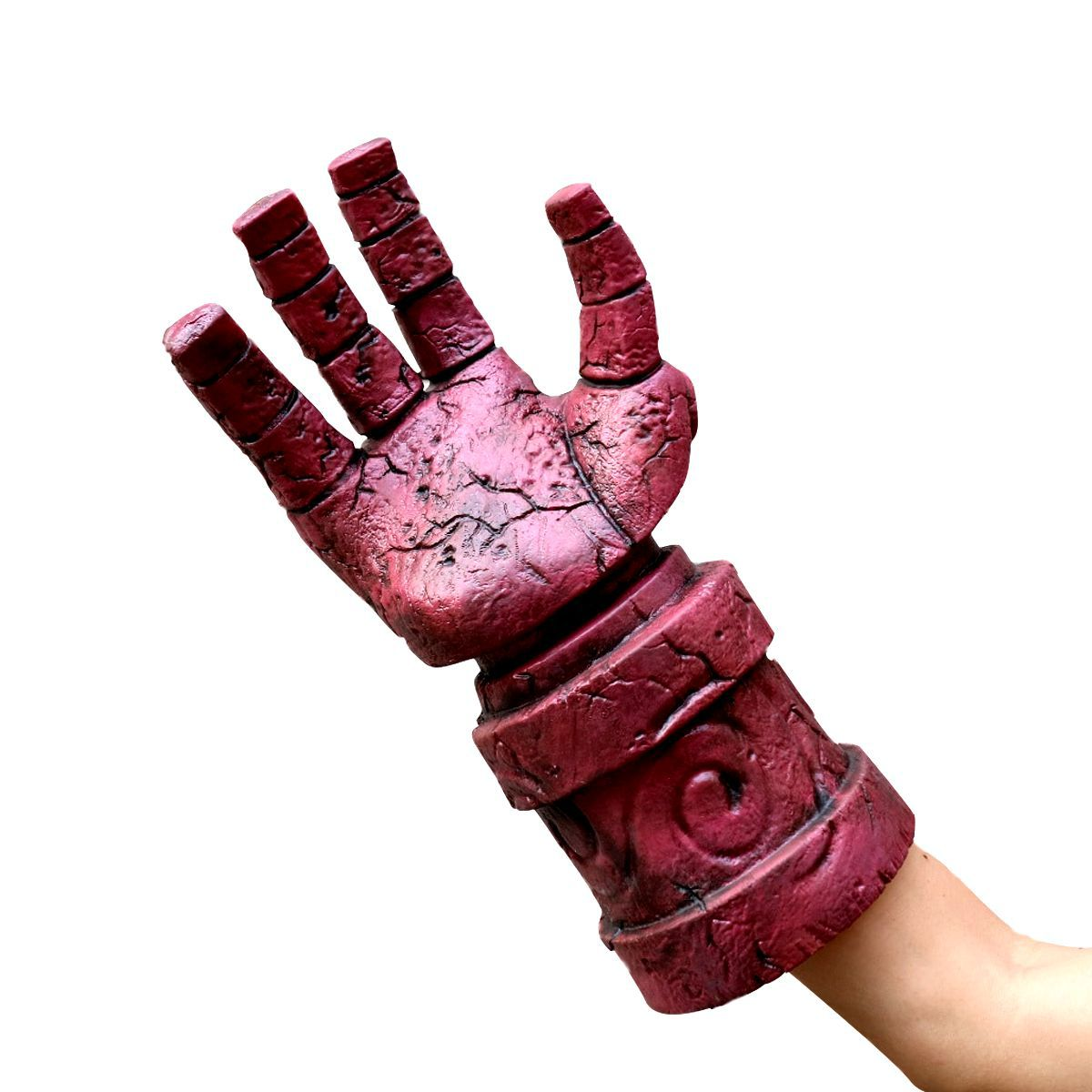 Halloween New Hellboy Mask Cos Hellboy Gloves Film Character Projects Factory Toy Unisex Horror None Latex