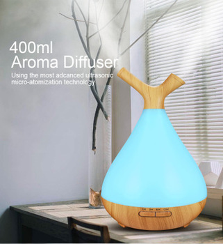 400ml Electric Humidifier Essential Aroma Oil Diffuser Ultrasonic Wood Grain Air Humidifier USB Mini Mist Maker LED Light For saengq electric humidifier essential aroma oil diffuser ultrasonic wood grain air humidifier usb mini mist maker led light for