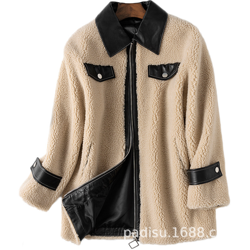 Real Fur Coat Autumn Winter Coat Women Clothes 2020 Korean Vintage Wool Jacket Streetwear Women Tops Abrigo Mujer HS831 ZT3244