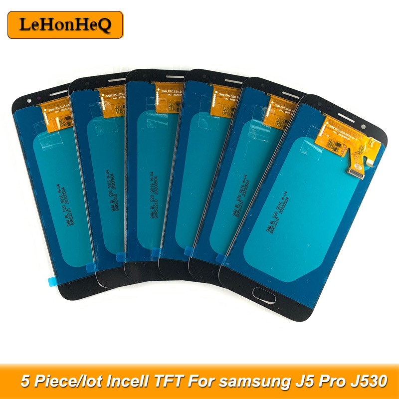 5 Piece/lot incell TFT For <font><b>Samsung</b></font> <font><b>Galaxy</b></font> <font><b>J5</b></font> <font><b>2017</b></font> <font><b>J530</b></font> J530F <font><b>LCD</b></font> <font><b>J5</b></font> Pro <font><b>J530</b></font> <font><b>Display</b></font> Touch Screen Digitizer Assembly image