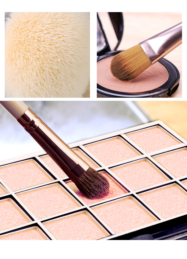 7pcs/set Makeup Brush set for Cosmetic Powder Foundation Eyeshadow Lip Make up Brushes Set Beauty Tool maquiagem Dropship 4