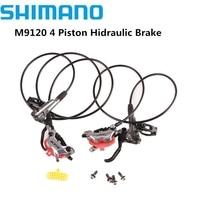 SHIMANO XTR M9100 2 Piston M9120 4 Piston MTB Bike XTR Hidraulic Disc Brake ICE-TECH Left & Right XTR Brake Better M9000 M9100