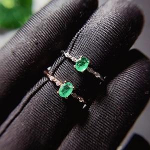 Image 3 - CoLife مجوهرات بسيطة خاتم فضة الزمرد للارتداء اليومي 4*5 مللي متر الطبيعية الزمرد خاتم الخطوبة 925 خاتم فضي بأحجار كريمة