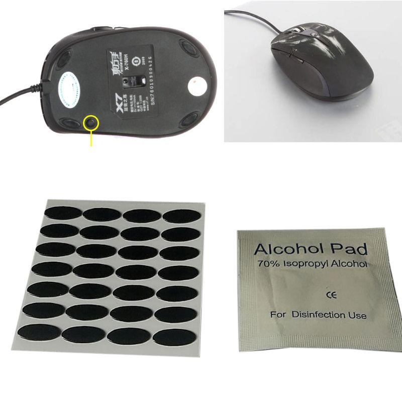 28Pcs 0.6mm 11.6x4.8mm DIY Mouse Feet Mouse Skates For A4tech X7 X-760 Mouse PXPE