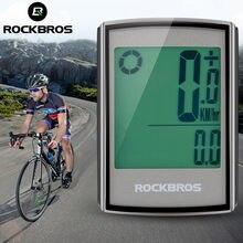 ROCKBROS bisiklet bilgisayar LCD arka bisiklet kablosuz hız göstergesi bilgisayar bisiklet kronometre yol MTB bisiklet kilometre sayacı