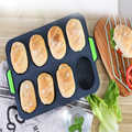 1PCS Silicone French bread 8 continuous mold mini baguette mold burger mold baking baking tray oven