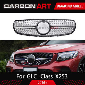 GLC class X253 front grille Car benz Front diamond Grille for MB GLC class X253 Silver Chrome black Design ABS replacement - DISCOUNT ITEM  1 OFF Automobiles & Motorcycles