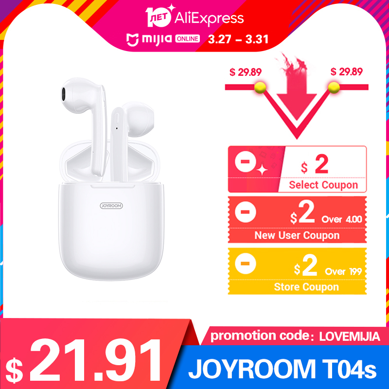 Image 2 - JOYROOM T04S TWS Bluetooth Stereo Noise Earphone Cancelling  Wireless Stereo Headset Earbuds With Mic Waterproof HIFI  QualityBluetooth Earphones