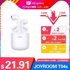 Image 2 - JOYROOM T04S TWS Bluetooth Âm Thanh Nổi Tiếng Ồn Tai Nghe Loại Bỏ Không Dây Âm Thanh Stereo Tai Nghe Nhét Tai Có Mic Chống Nước HIFI Chất Lượng