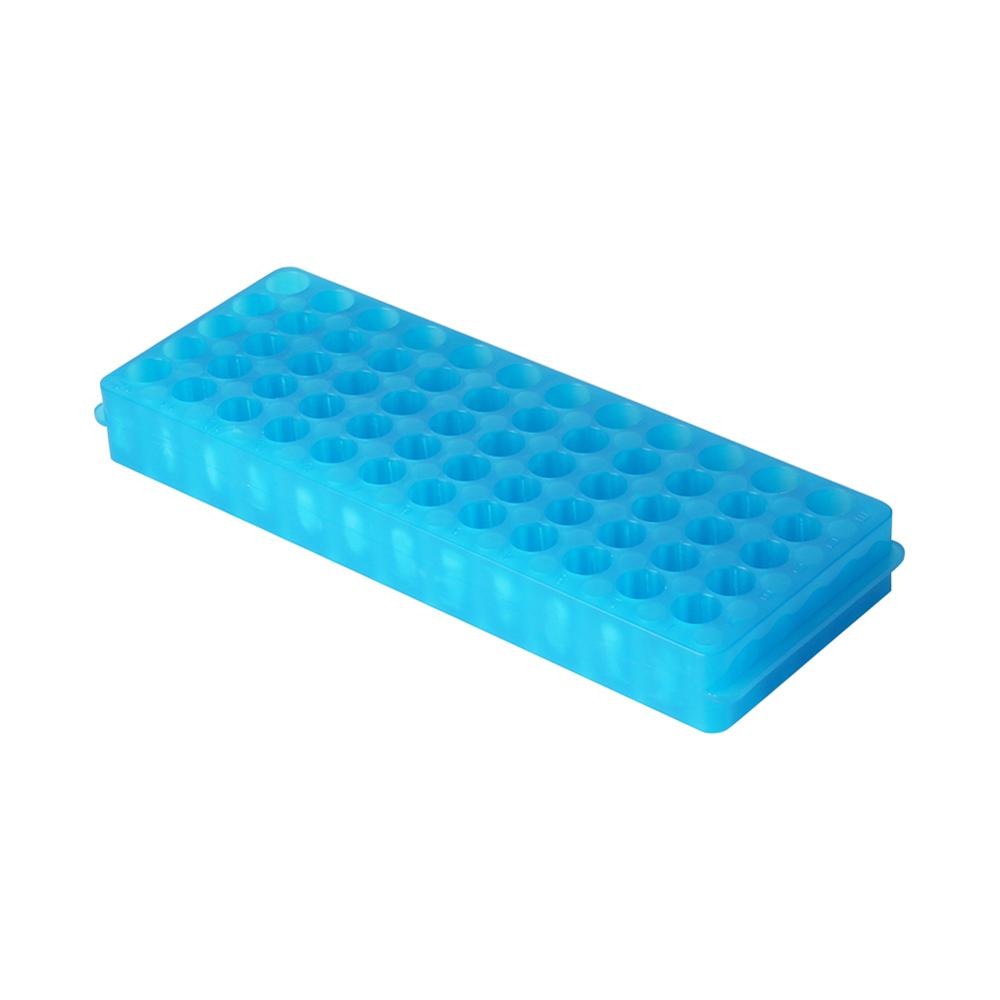 2 Side 60 Holes Plastic Centrifuge Tube Rack Laboratory Test Tubes Holder Bracket Rack 0.5ml/1.5ml Centrifuge Vials Stand 1 Pc
