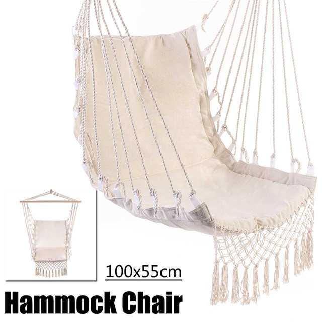 Outdoor Camping Hammock Chair Bedroom Yard Swing Bed Home Garden Indoor Hanging Chair Hammock for Child Adult 2