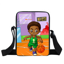 Black Boy Mini Messenger Bag African Children School Bag afr