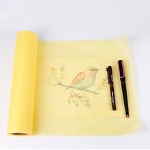 Papel transparente super da manteiga do esboço do esboço de 46m x 30cm que traça o amarelo branco do rolo de papel para pintar o papel de rastreamento