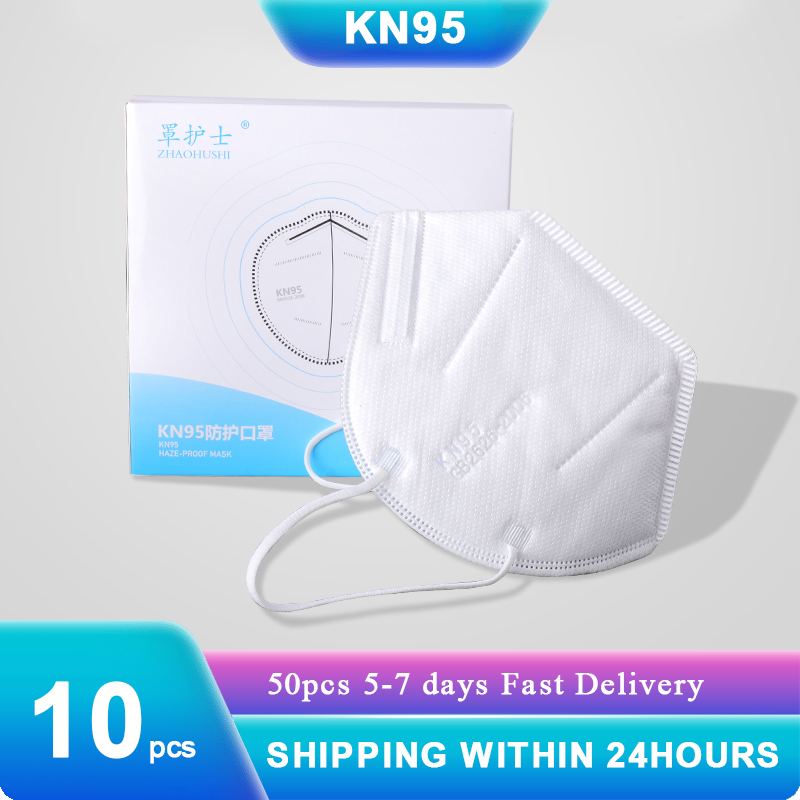 10pcs KN95 Face Masks Features As KF94 Mask N95 Dustproof Anti-fog Breathable Face Mask 99% Filtration Shipping With 24 Hours