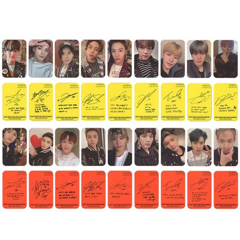 9PCS/Set Kpop NCT 127 Neo Zone New Album Photocard Self Made Photo Cards Photograph LOMO Card Stationery