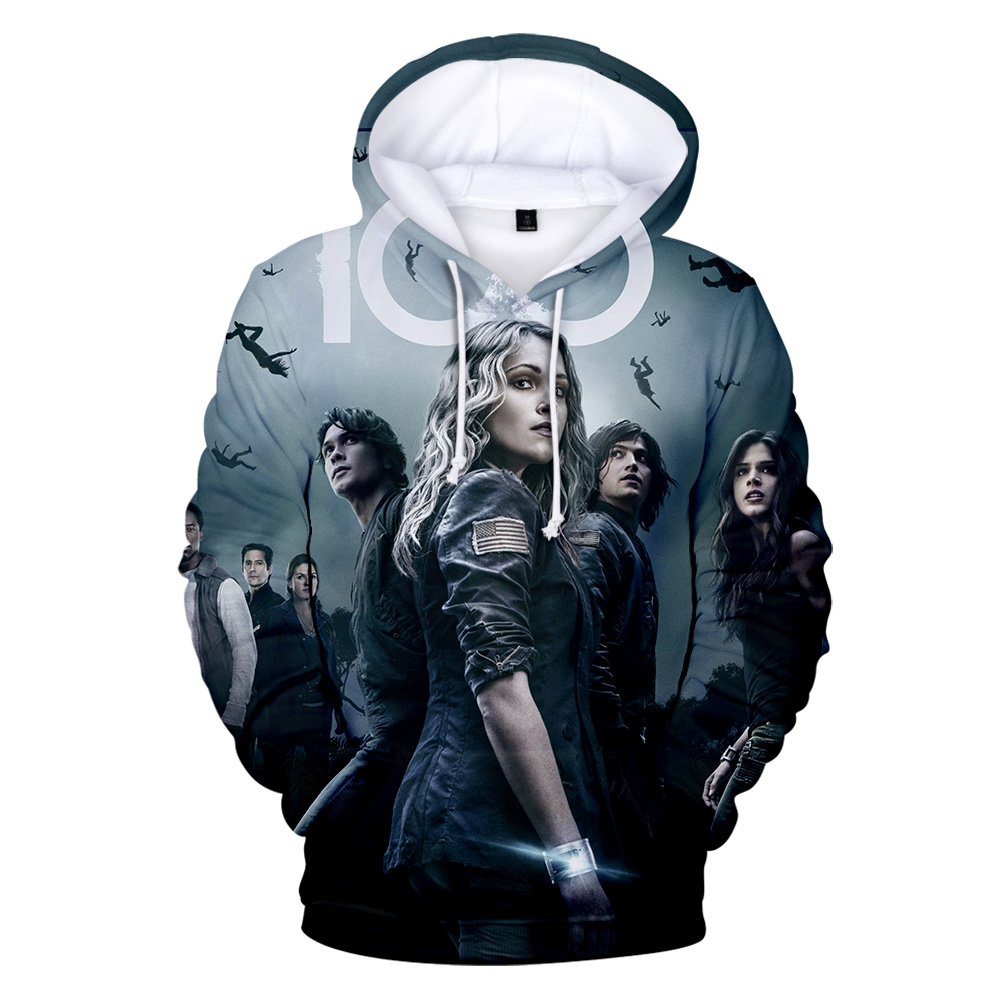 New Fashion THE 100 Hoodie Hot Sale THE 100 Sweatshirts Autumn Boys Girl Men Women Hooded Pullover Tops