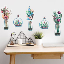 Illustration Hanging Basket Plant Flower Wall Sticker Living Room Bedroom Background Wall Sofa Home Decoration Wall Sticker