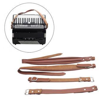 Jedna para regulowana syntetyczna skóra akordeon paski na ramionach dla 16-120 akordeonów basowych instrumenty klawiszowe tanie i dobre opinie NoEnName_Null EPC_MIA_902