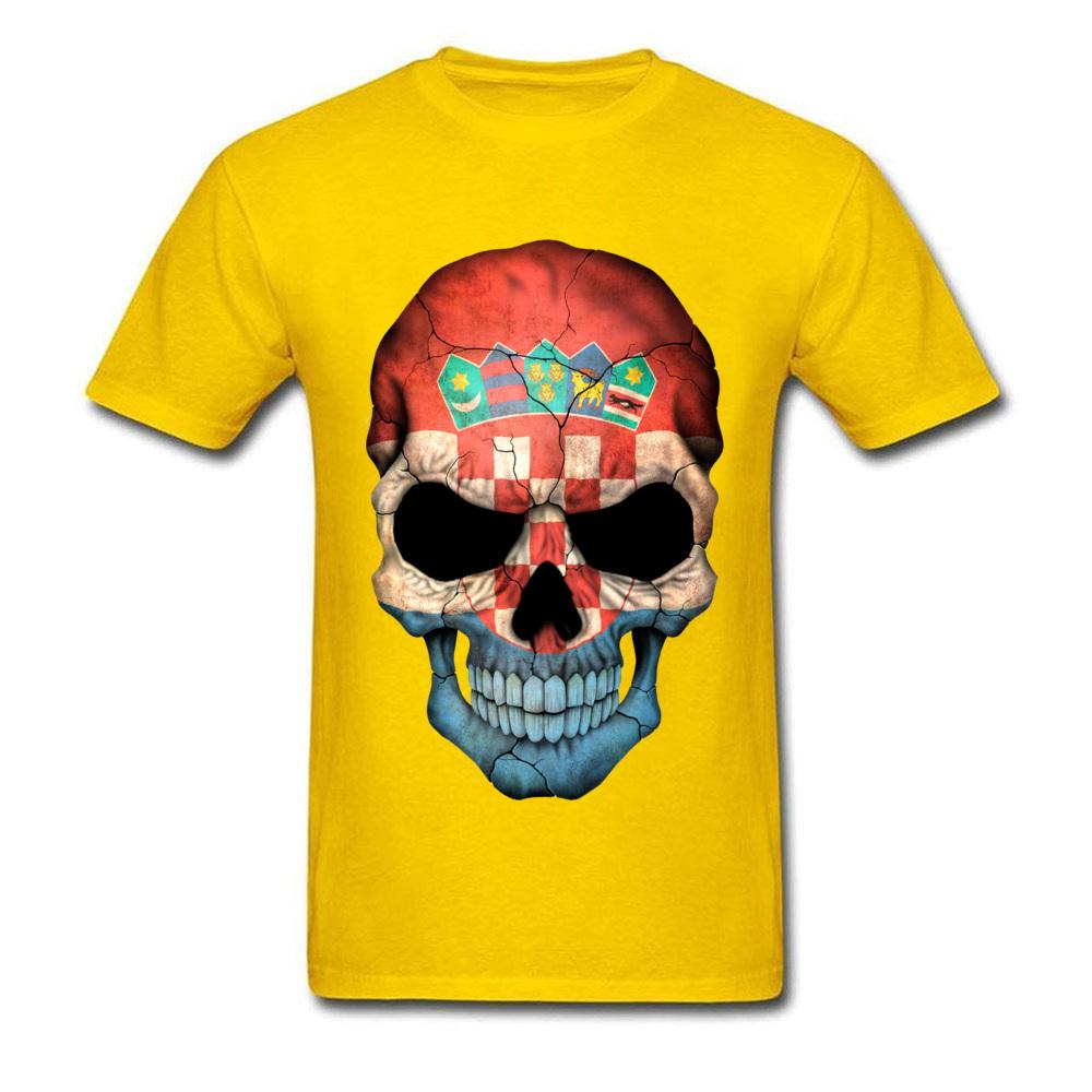 Croatian Flag Skull_yellow