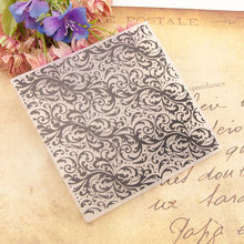 Flower Plastic Template Lace Craft Card Making Paper Card Album Wedding Decoration Embossing Folders dot lace plastic scrapbooking embossing folders template craft paper card making album wedding decoration supplies