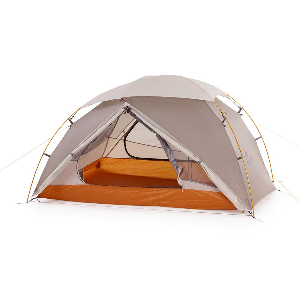 Naturehike Nebula 2 Person 20D Nylon Silicone Coating Waterproof Backpacking Tent Ultralight Mountain Camping Tents  X Cross Bar
