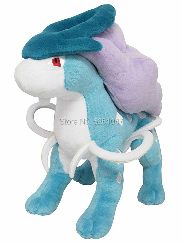 Original Pocket Monster Suicune Plush Doll Stuffed Toy Cute Figure 20cm Kid Gift