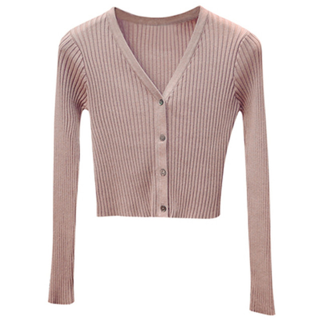 Korean Fashion Spring Newly Patchwork Sweaters Women Cardigans 2020 Slim Ladies Knitted Sweater Long Sleeve Buttons Sweater 1540 1