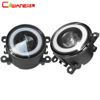 Cawanerl For 2002 2008 Peugeot 307 Car 30W 3000LM COB LED Fog Light Angel Eye Daytime Running Light DRL H11 12V 2 Pieces