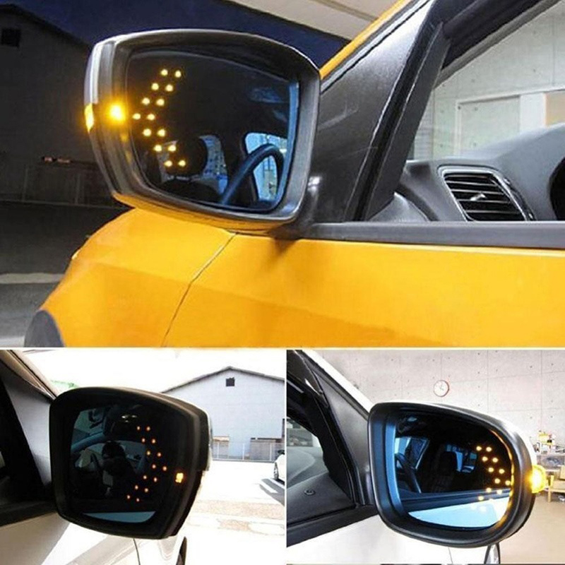 2pcs LED Arrow Panel For Car Rearview Mirror Indicator Turn Signal Light Car LED Rearview Mirror Mirror Light Auto Accessories