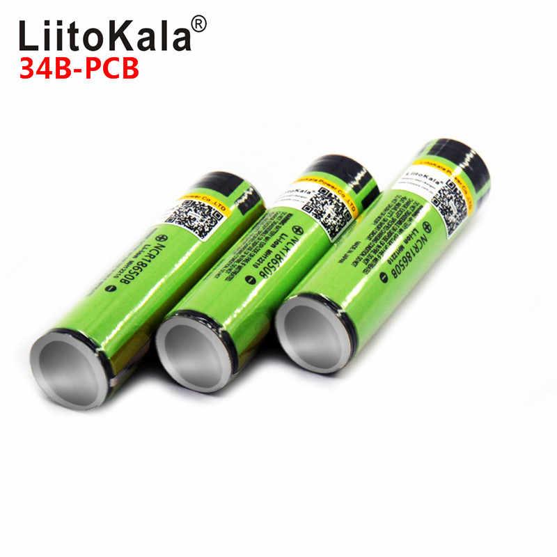 2019 6 pçs/lote novo protegido original bateria recarregável 18650 ncr18650b 3400mah com pcb 3.7 v para frete grátis