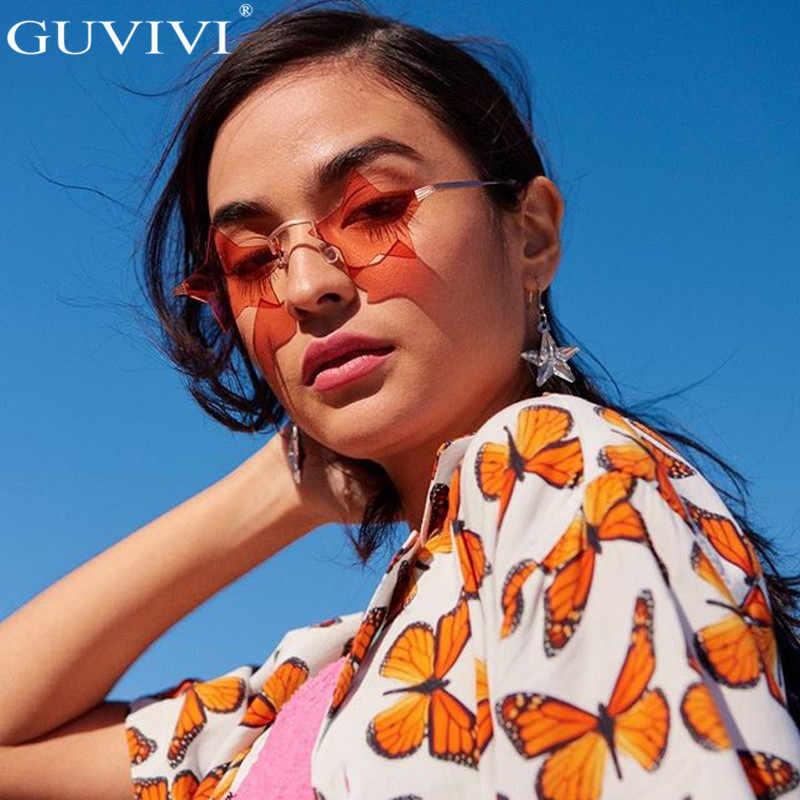 Steampunk Vintage Kacamata Wanita Bintang Cermin Tanpa Bingkai Kacamata Hitam Pria Tanpa Bingkai Tren Fashion Retro Kecil Kacamata Kacamata