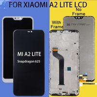 Catteny Xiaomi Mi A2 Lite Lcd 터치 스크린 디지타이저 어셈블리 수리 Xiaomi Redmi 6 Pro 디스플레이 5.84 인치 무료 배송